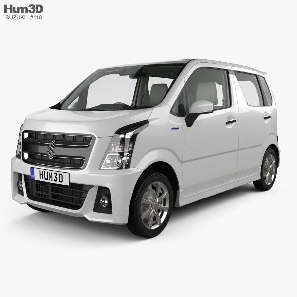 3D model of Suzuki Wagon R Stingray Hybrid with HQ interior 2018