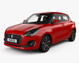 3D model of Suzuki Swift with HQ interior 2017