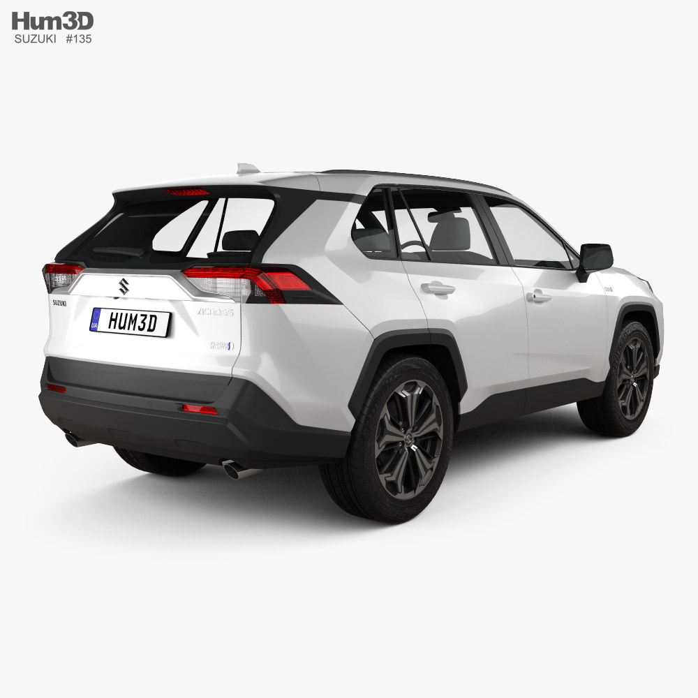 Suzuki Across 2020 3d model back view