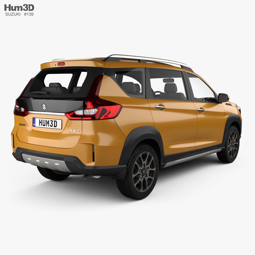 Suzuki XL7 2021 3d model back view