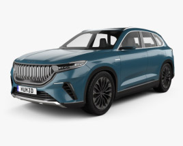 3D model of TOGG SUV 2019