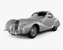3D model of Talbot Lago T150 SS Figoni et Falaschi Teardrop Coupe 1938