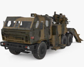 ATMOS 2000 Self-propelled Gun 3D model