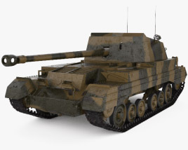 3D model of Archer tank destroyer