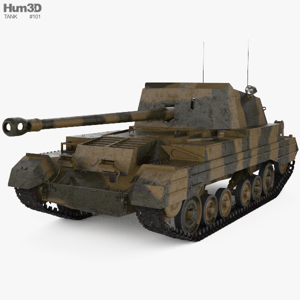 Archer Tank Destroyer 3D model