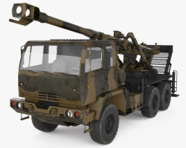 3D model of Brutus 155mm self-propelled howitzer