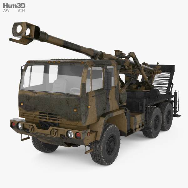 Brutus 155mm self-propelled howitzer 3D model
