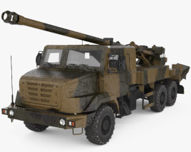 3D model of CAESAR self-propelled howitzer
