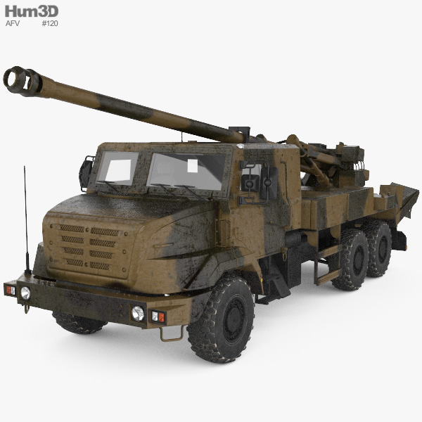 CAESAR self-propelled howitzer 3D model