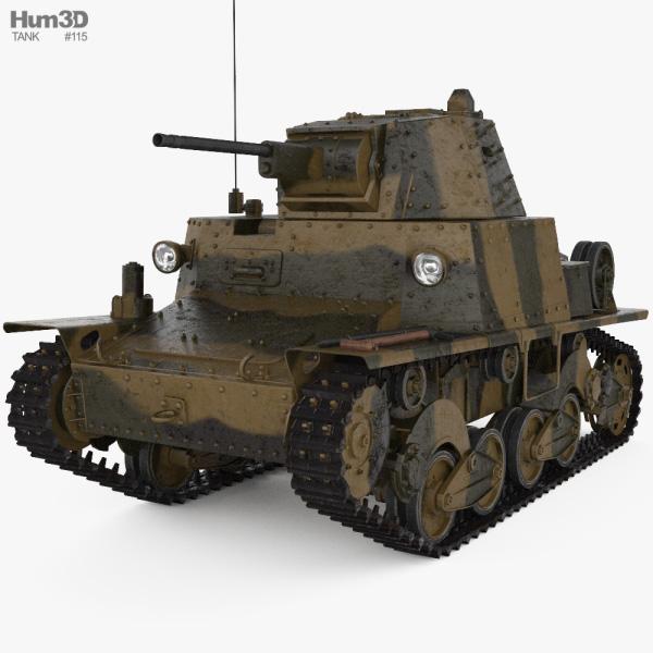 Carro Armato L6/40 3D model