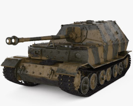 3D model of Elefant tank destroyer