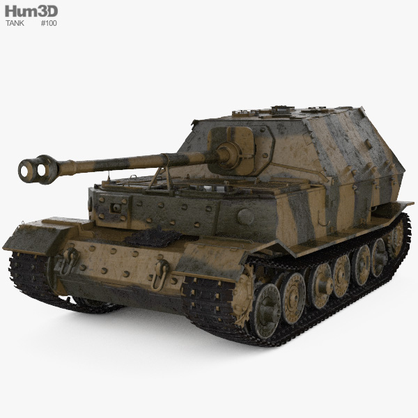 Elefant tank destroyer 3D model