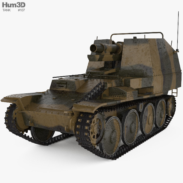 Grille Self-propelled Artillery 3D model