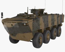 K808 Armored Personnel Carrier 3D model