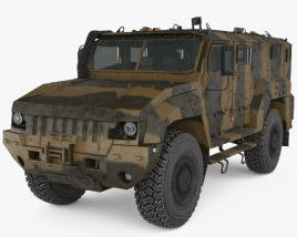 3D model of KamAZ-53949 Typhoon-L MRAP