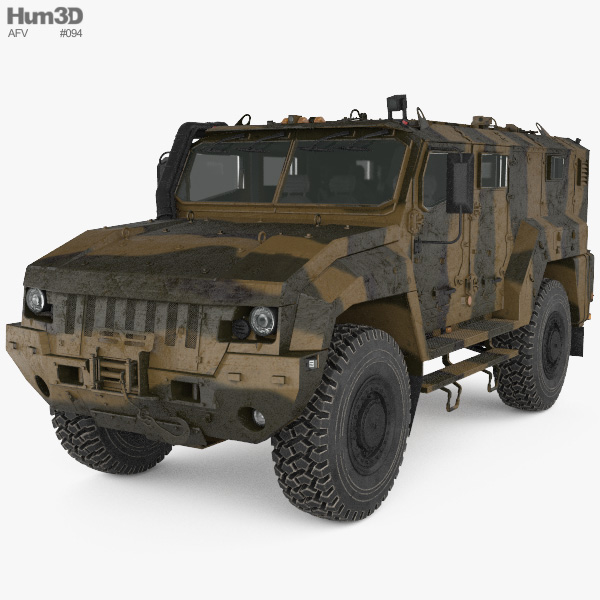 KamAZ-53949 Typhoon-L MRAP 3D model