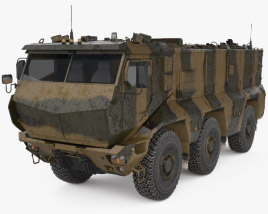 3D model of KamAZ-63968 Typhoon