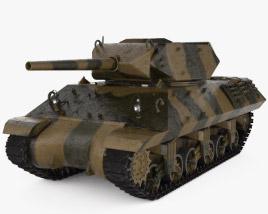 M10 Wolverine Tank Destroyer 3D model
