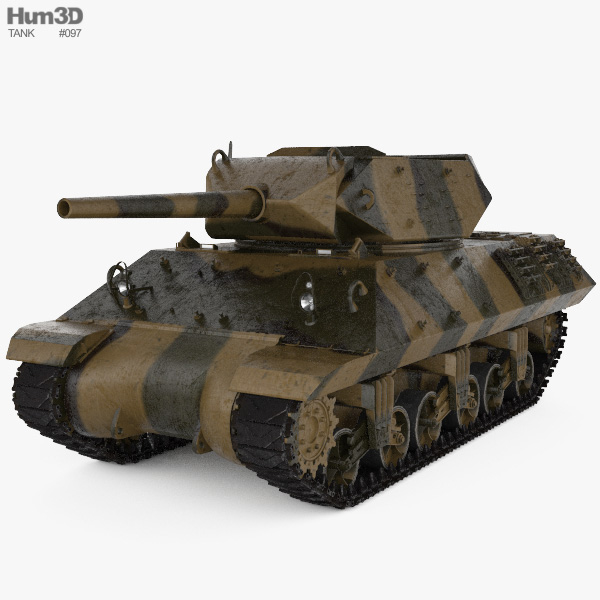 M10 Wolverine Tank Destroyer 3D model