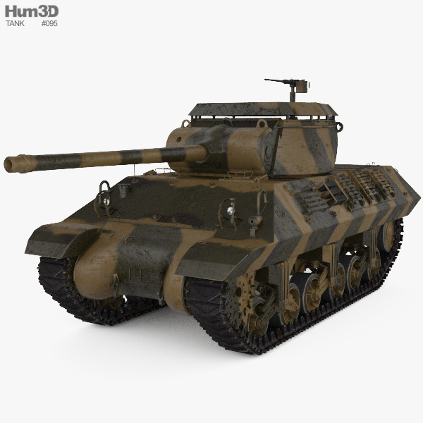 M36 Jackson Tank Destroyer 3D model