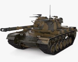 3D model of M48 Patton