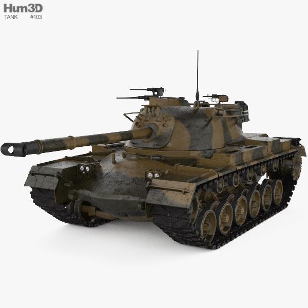 M48 Patton 3D model