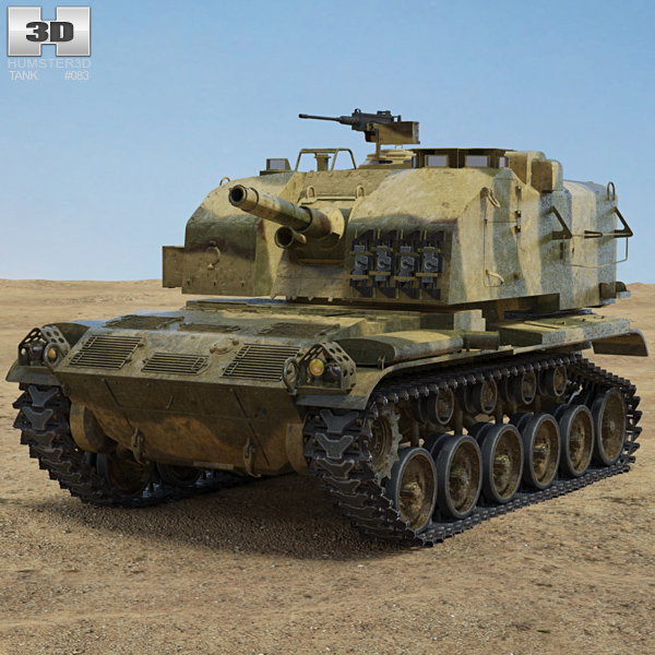M52 Self Propelled Howitzer 3D model