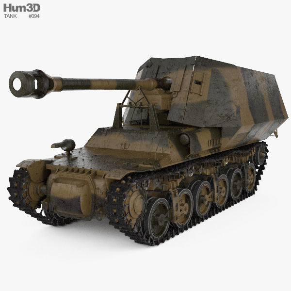 Marder I Tank Destroyer 3D model