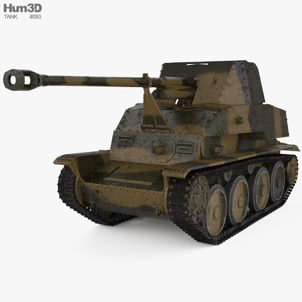Marder III Tank Destroyer 3D model