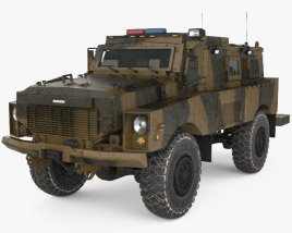 3D model of Oshkosh Alpha MRAP