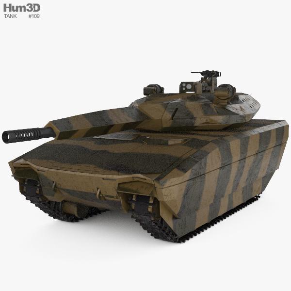 PL-01 Light Tank 3D model