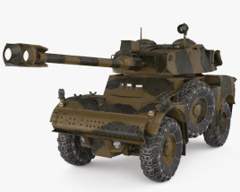 3D model of Panhard AML-90