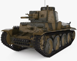 3D model of Panzer 38(t)