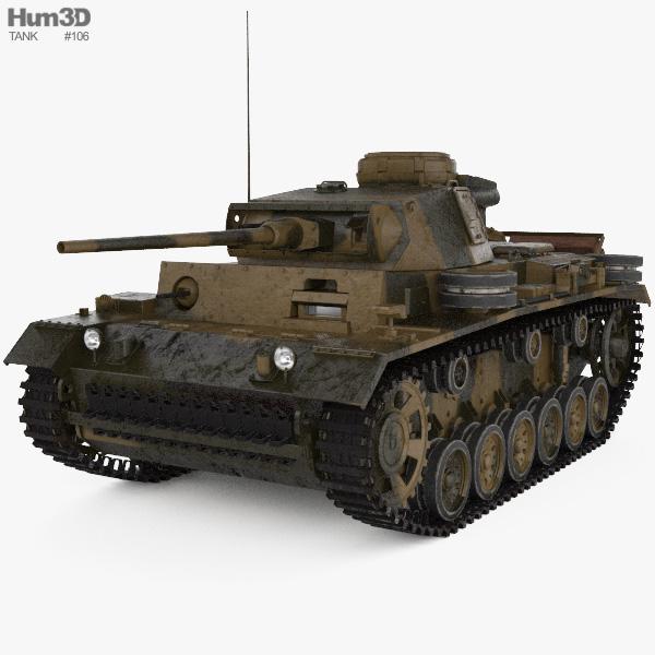 Panzer III 3D model