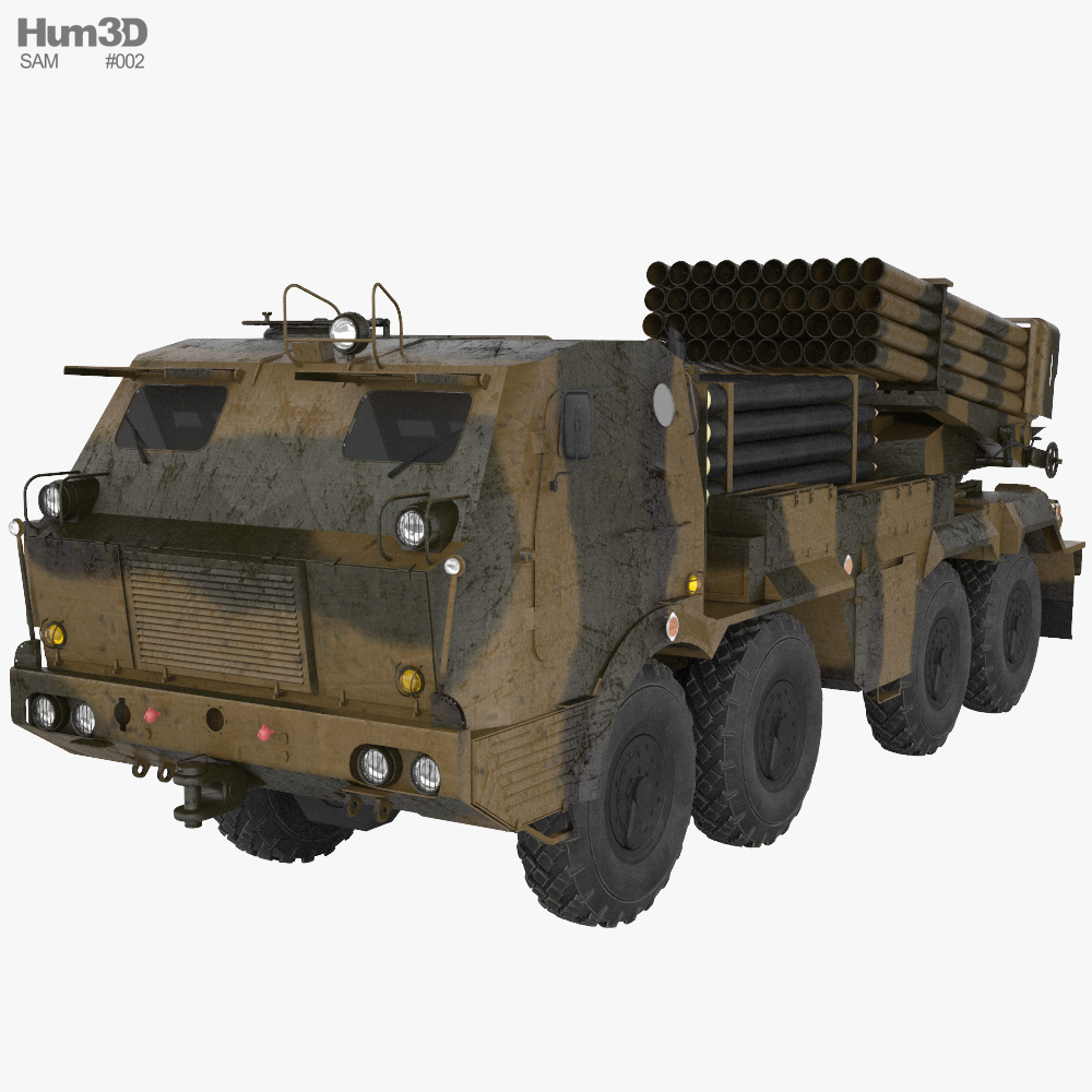 RM-70 multiple rocket launcher 3Dモデル