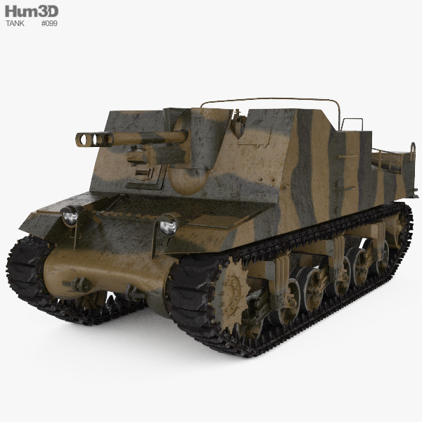 Sexton Self-propelled Artillery 3D model