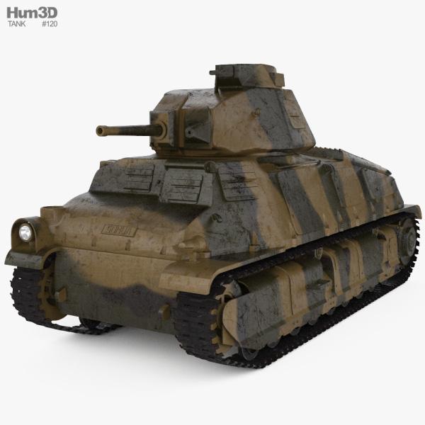 Somua S35 Cavalry Tank 3D model