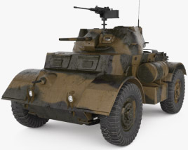 3D model of T17E1 Staghound