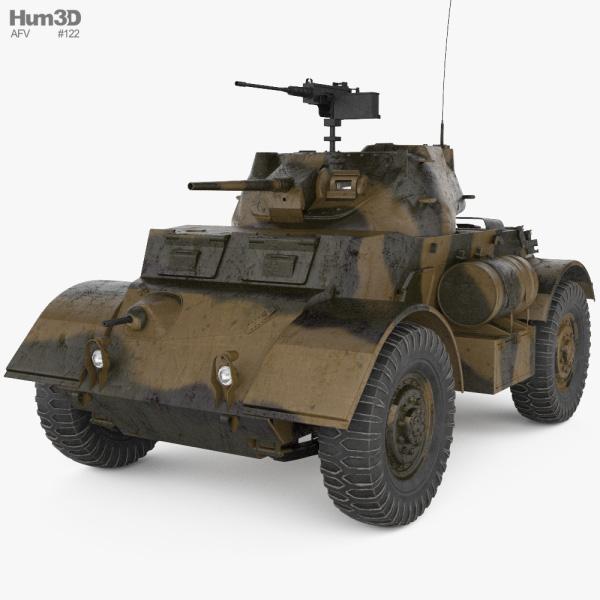 T17E1 Staghound Armoured Car 3D model