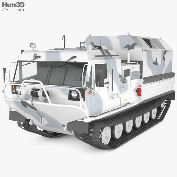 TM-140A ATV Arctic Amphibious All-terrain Vehicle 3D model