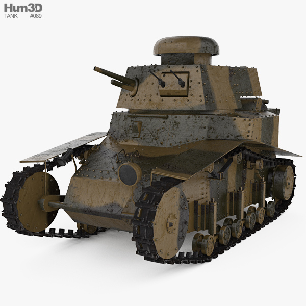 T-18 Tank 3D model