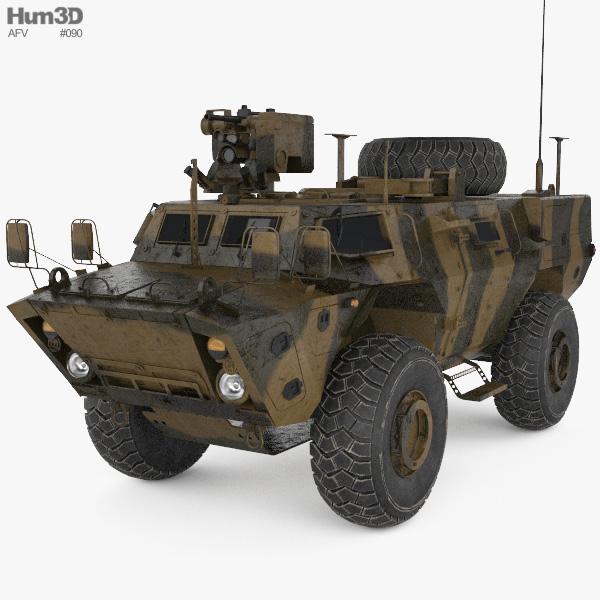 Textron Tactical Armoured Patrol Vehicle 3D model