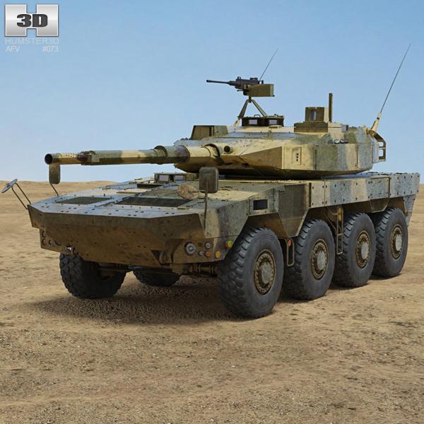 Type 16 Maneuver Combat Vehicle 3D model