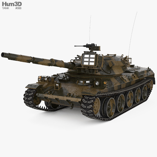 Type 74 Tank 3D model