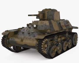 3D model of Type 97 Te-Ke tankette