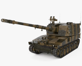 3D model of Type 99 155 mm self-propelled howitzer