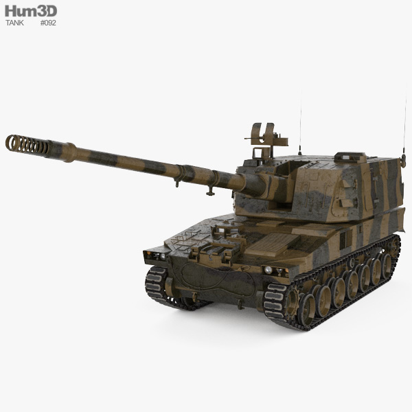 Type 99 155 mm self-propelled howitzer 3D model