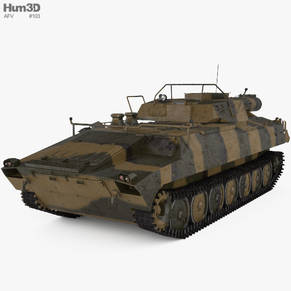 UR-77 Meterorit Mine Clearing Vehicle 3Dモデル