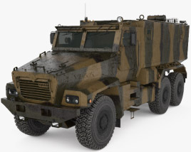 3D model of Ural Typhoon 63095 MRAP