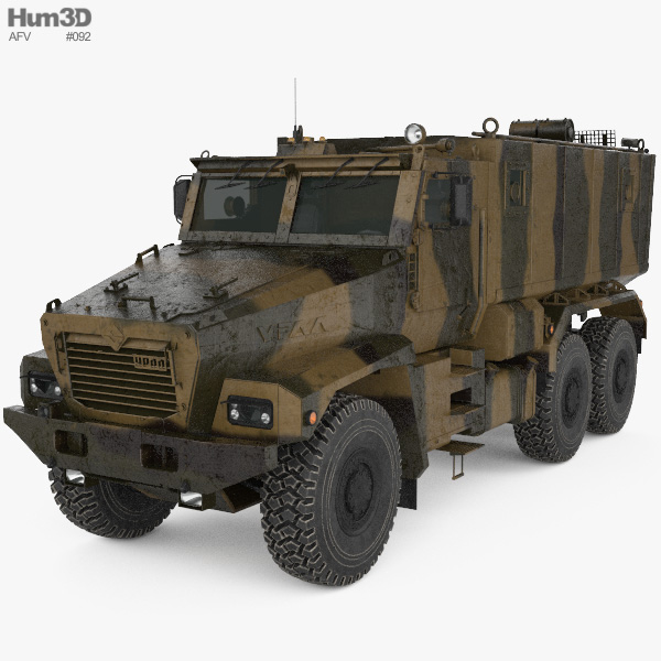 Ural Typhoon 63095 MRAP 3D model